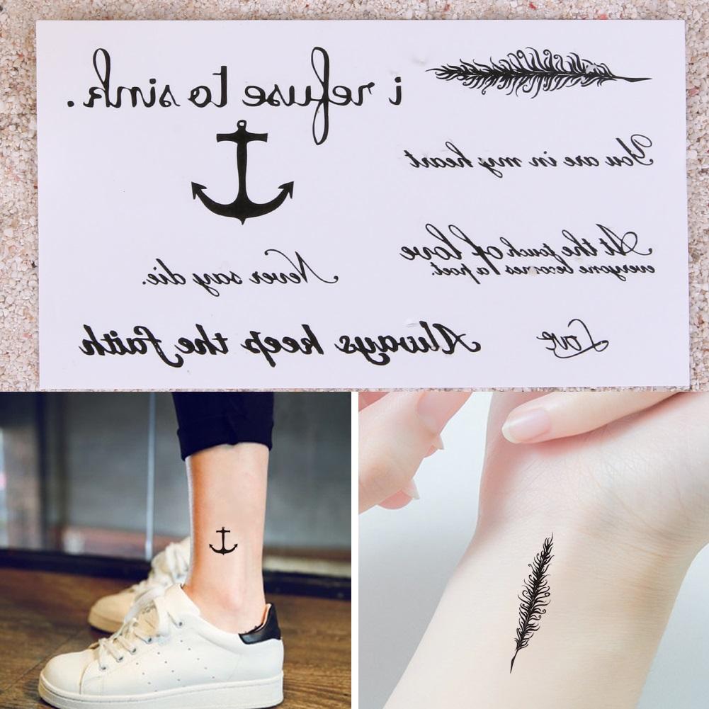Tattoo Tatuaż Czarny Napisy Hc 144 7403810086 Oficjalne