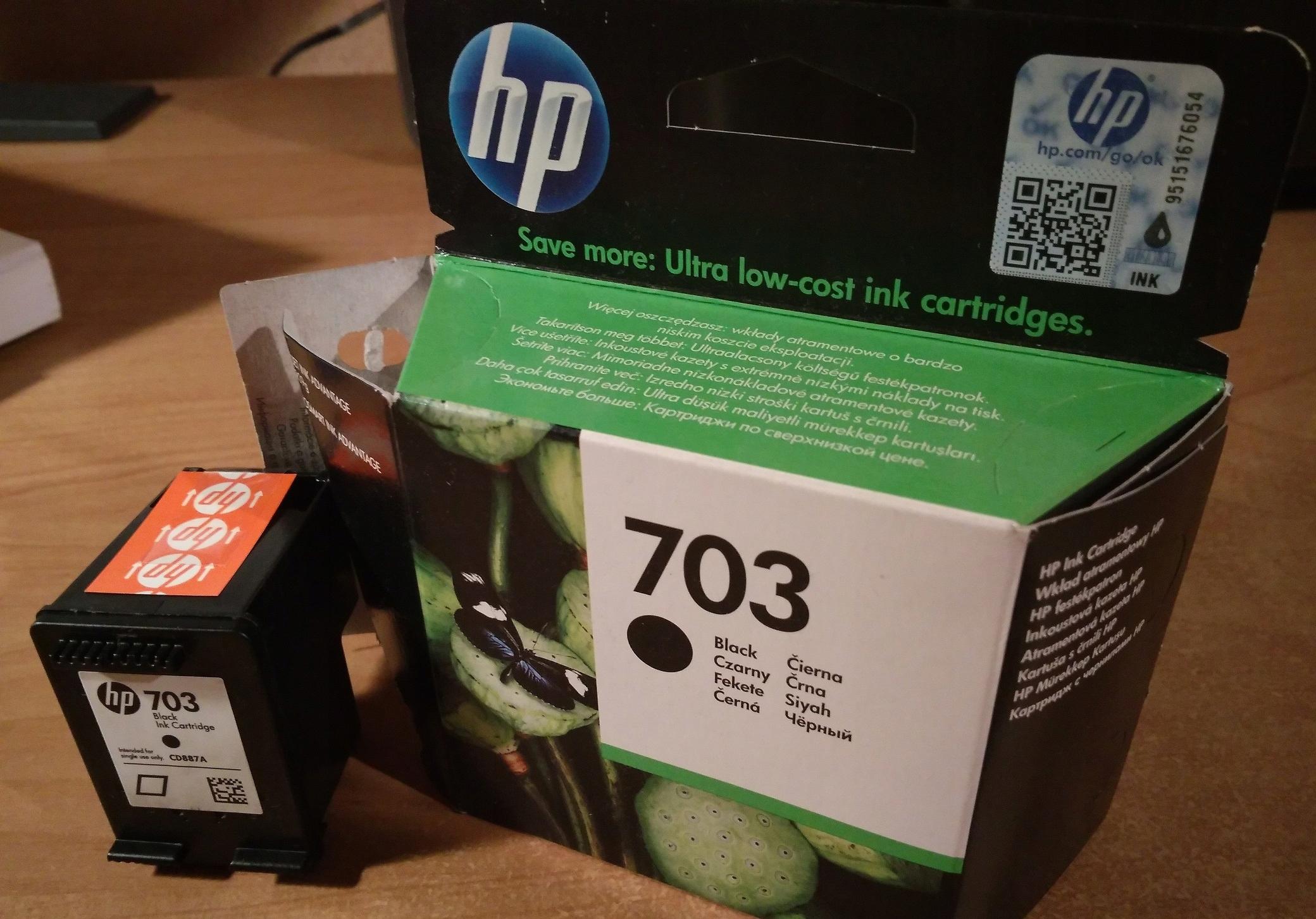 PUSTY CARTRIDGE HP 703 CZARNY CD887AE