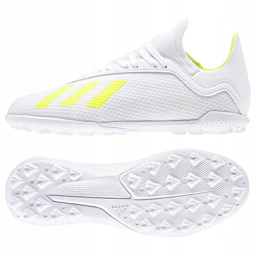 Buty adidas X 18.3 TF J BB9404 - BIAŁY; 37 1/3