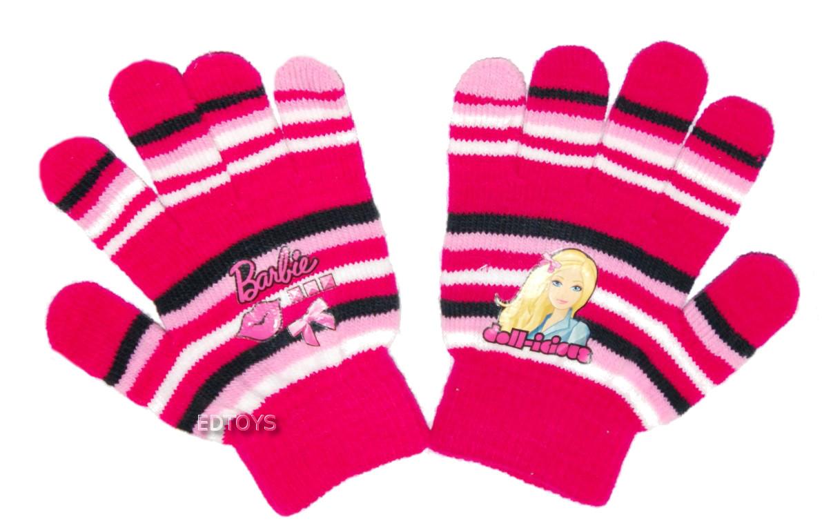Rękawiczki zimowe akryl Disney 4-7lat BARBIE W7