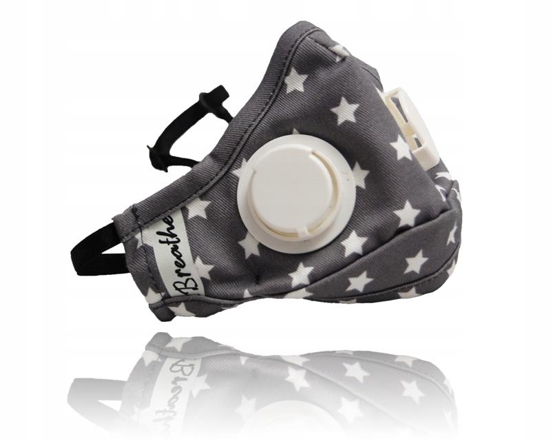 xBREATHE Stars Maska Antysmogowa Filtr węglowy S