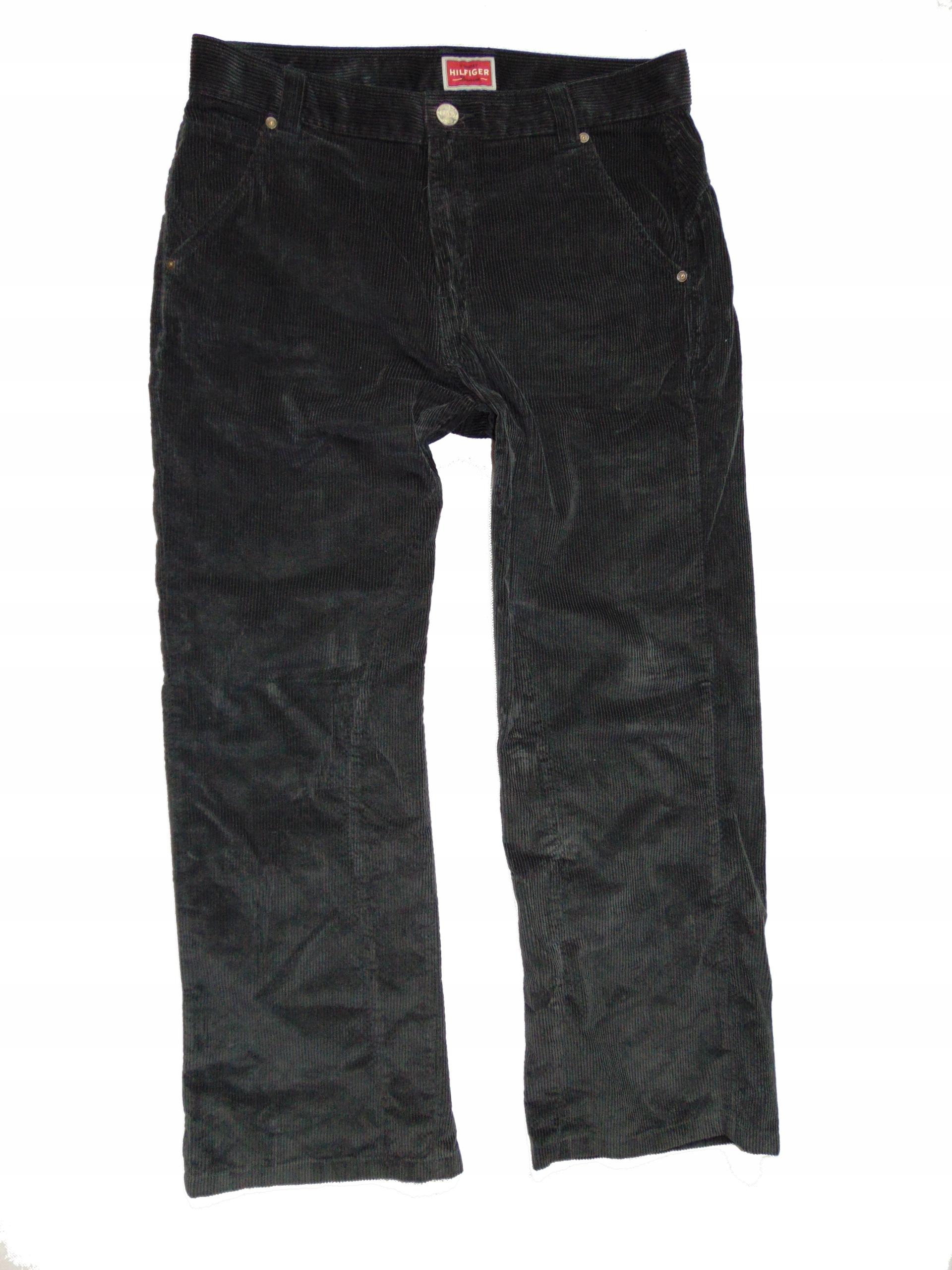 TOMMY HILFIGER spodnie męskie sztruksy r 34
