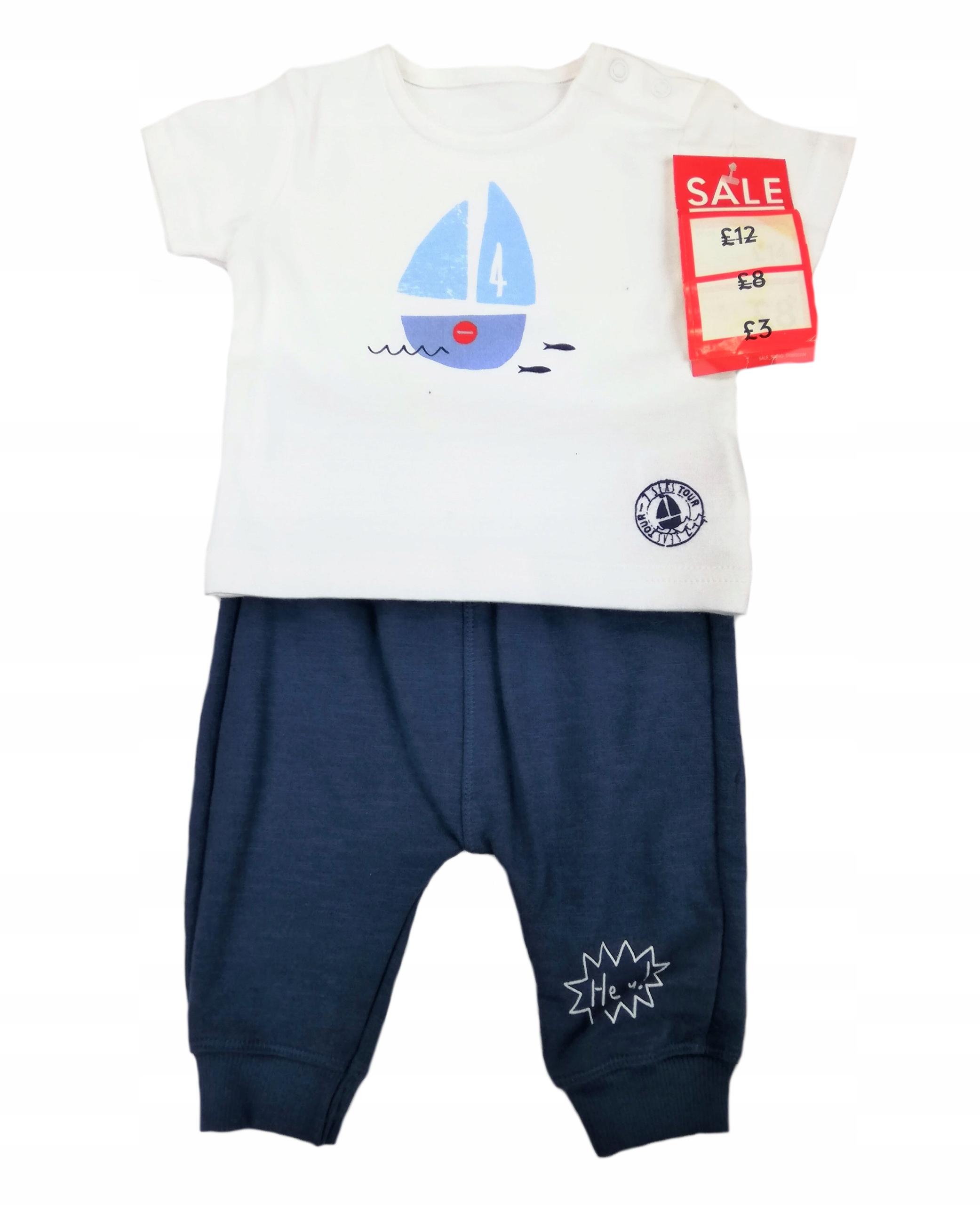 Mothercare komplet t-shirt + spodnie dresowe 62