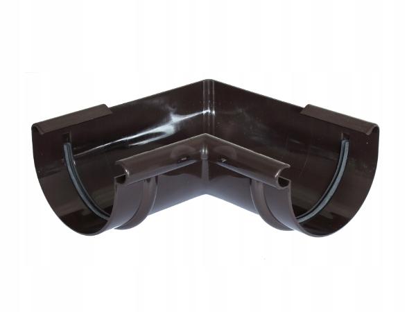 Narożnik wewnętrzny PVC-U Gamrat 100mm ciemny brąz