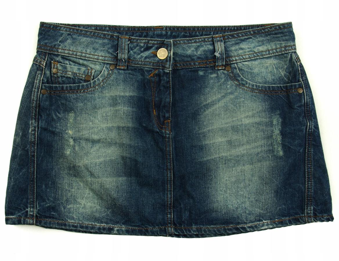 DOROTHY PERKINS Prosta spódnica jeans r 42