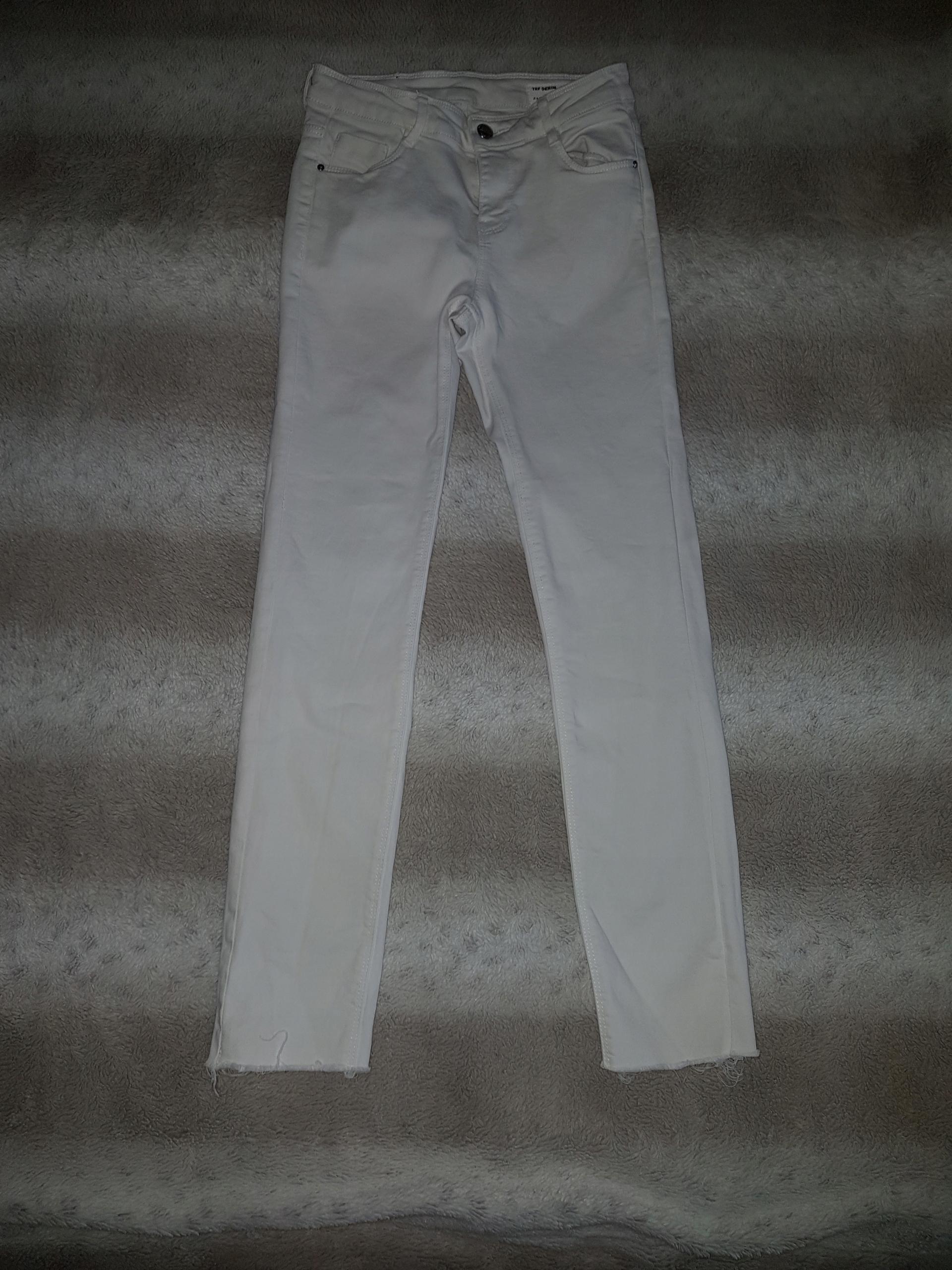 Jeansy białe ZARA r. 32