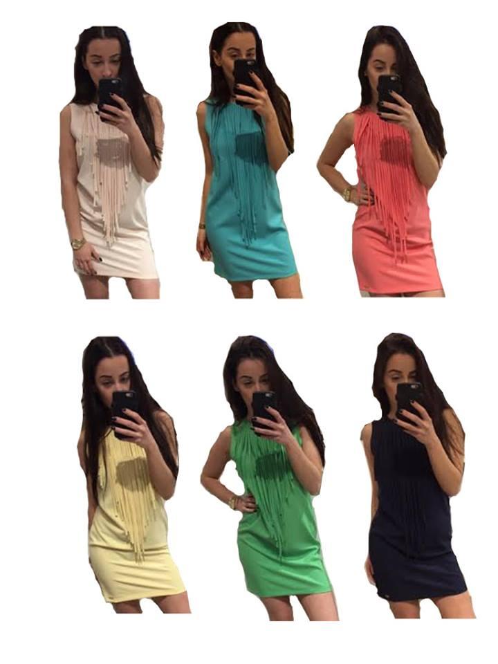 503baacbf9 Sukienka z frędzlami - LOLA Fashion - kolory - 40L - 6728767016 ...