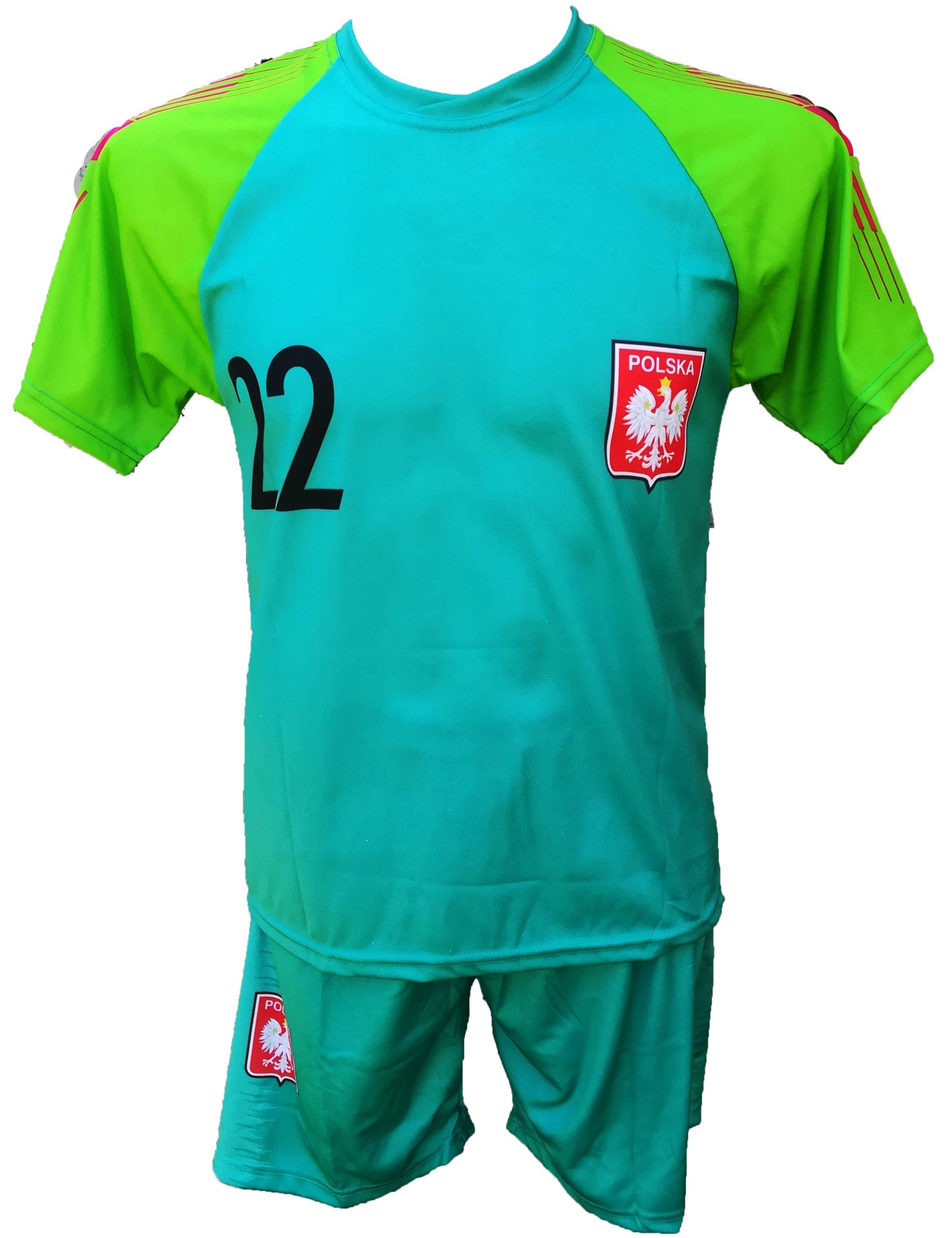 b16895f3c FABIAŃSKI komplet strój piłkarski getry 122 i inne - 7356309802 ...