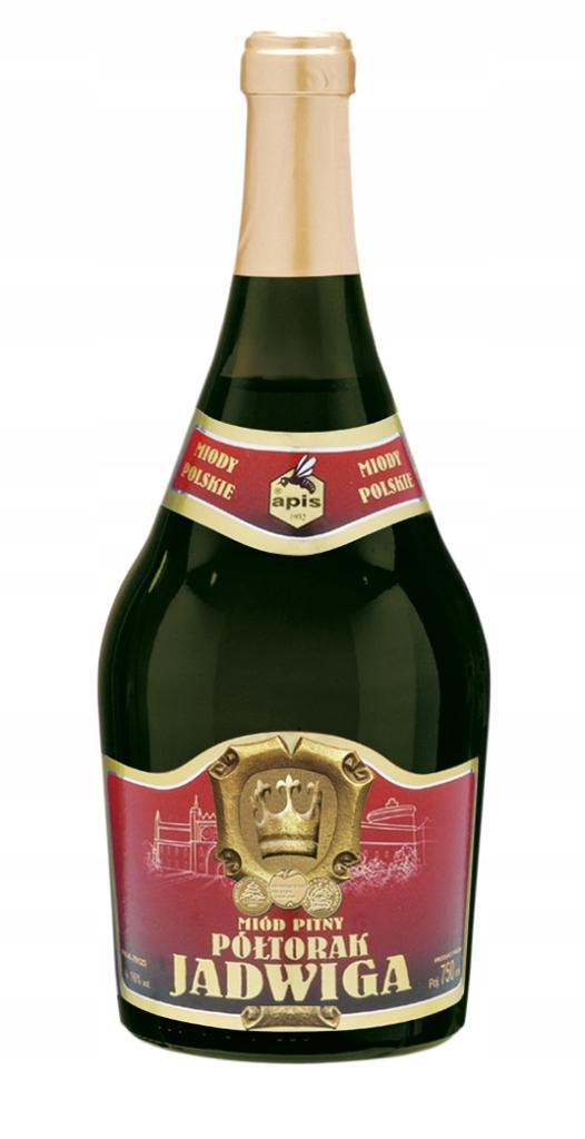 Miód pitny Półtorak Jadwiga w butelce 750 ml