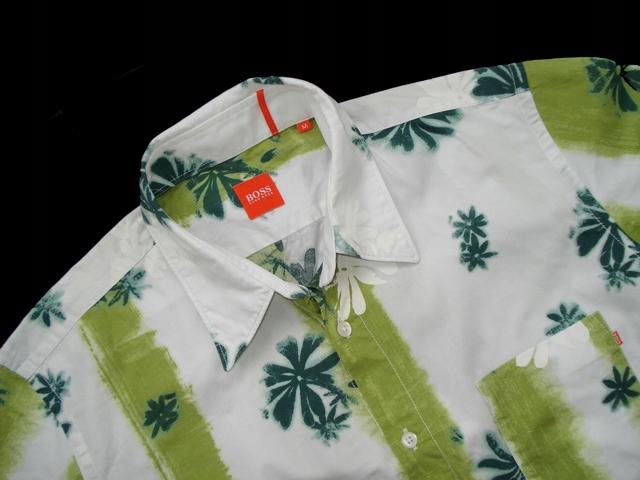 HUGO BOSS ___ IDEAŁ Koszula HAWAJSKA Orange r. M/L