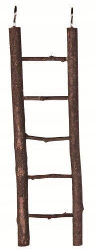 604G3 Drabina drewniana OZDOBA DO KLATKI 26 cm