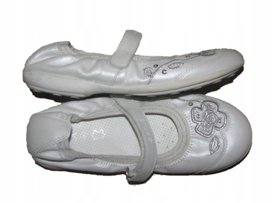 GEOX RESPIRA śliczne zdobione skórzane buty 34 21c