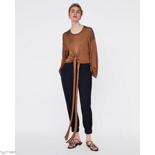 Spodnie ZARA JOGGER XS/S luźne, eleganckie, czarne