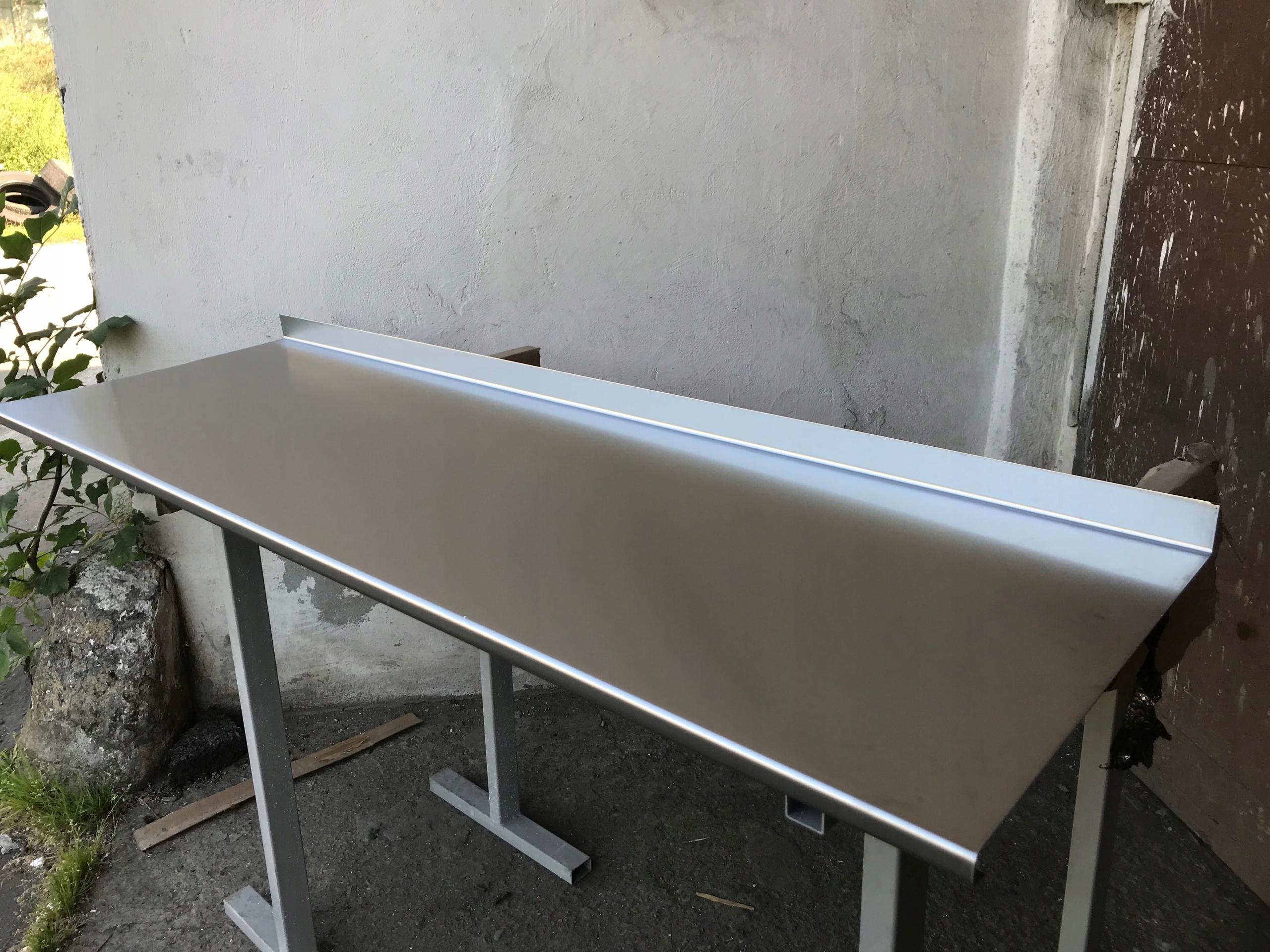 Modernistyczne Blat ze stali nierdzewnej 150x50cm Nakładka PROMO! - 7575951529 TL23