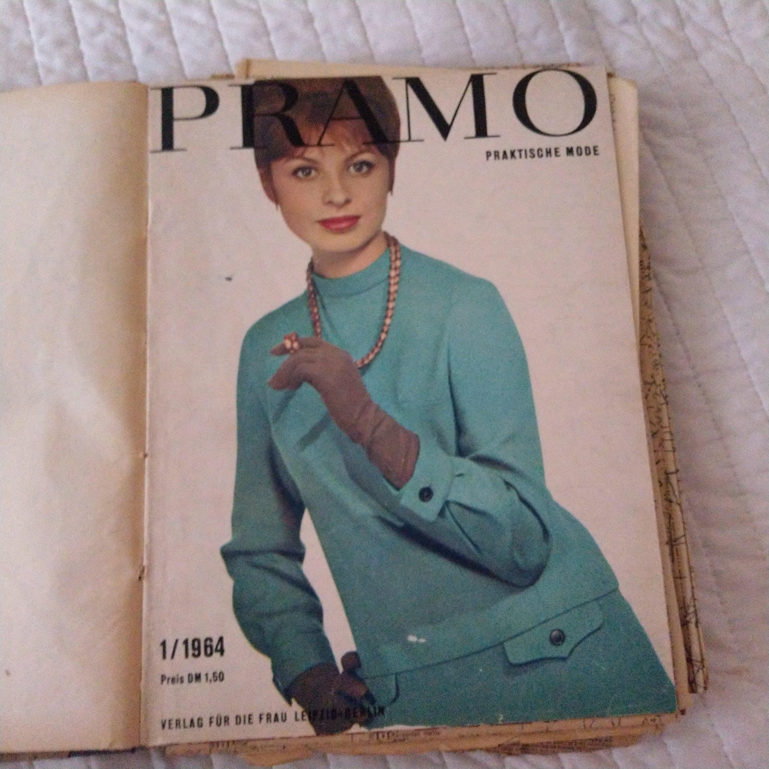 Wykroje moda 1964 r PRAMO kolekcja 9szt