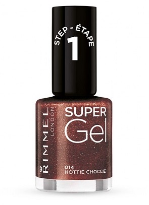 RIMMEL SUPER GEL LAKIER 014 HOTTIE CHOCCIE 12ML
