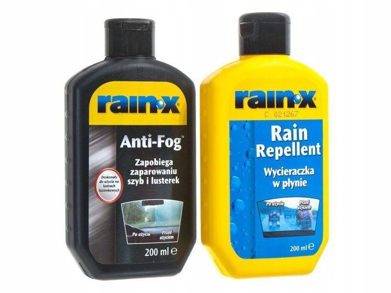 RAIN-X Zestaw Niewidzialna wycieraczka + Antypara