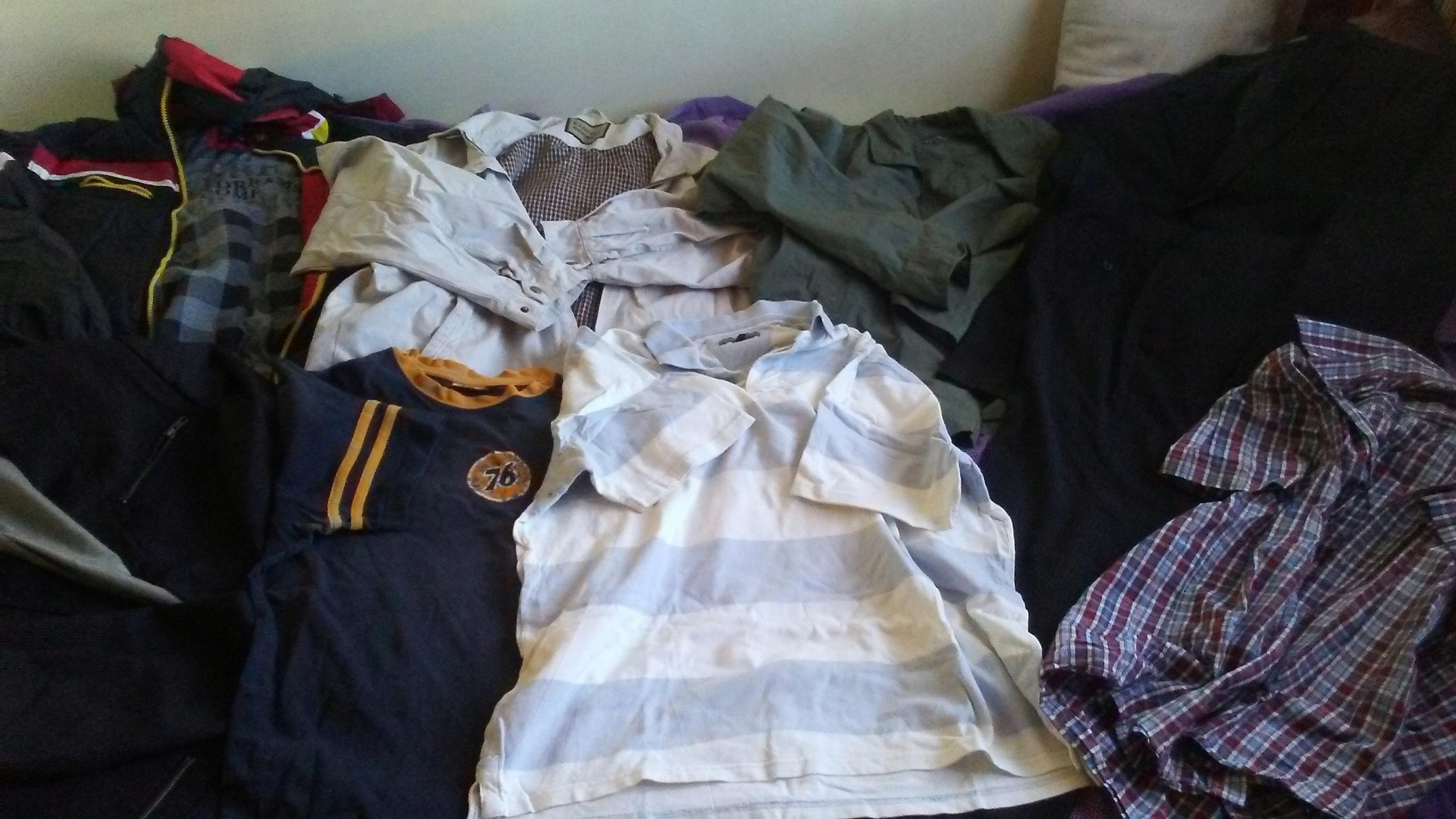 zestaw paka męskich ubrań XL