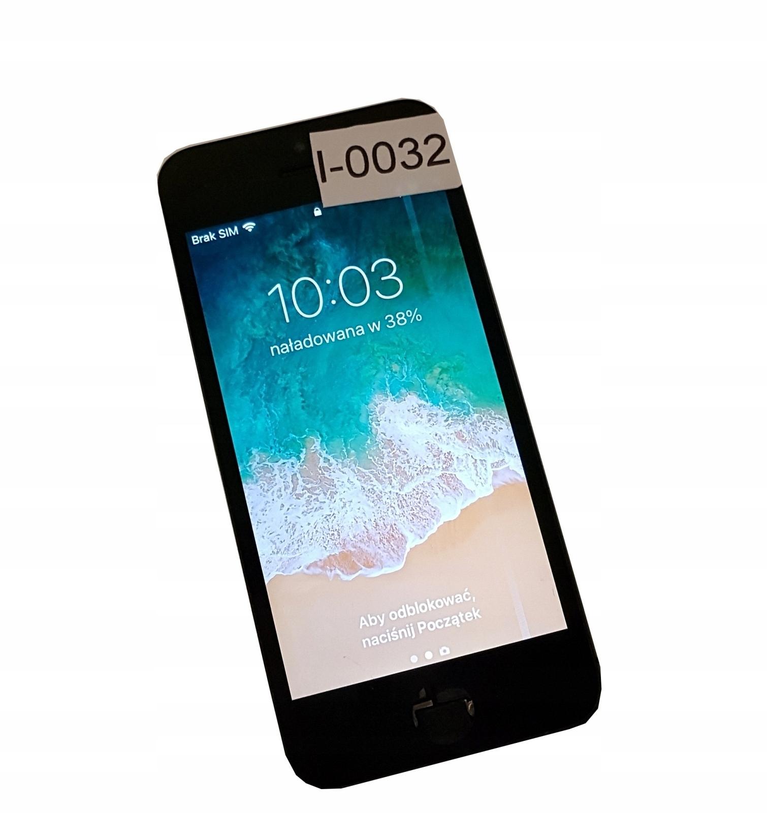 WYŚWIETLACZ LCD iPHONE 5S Czarny I0032