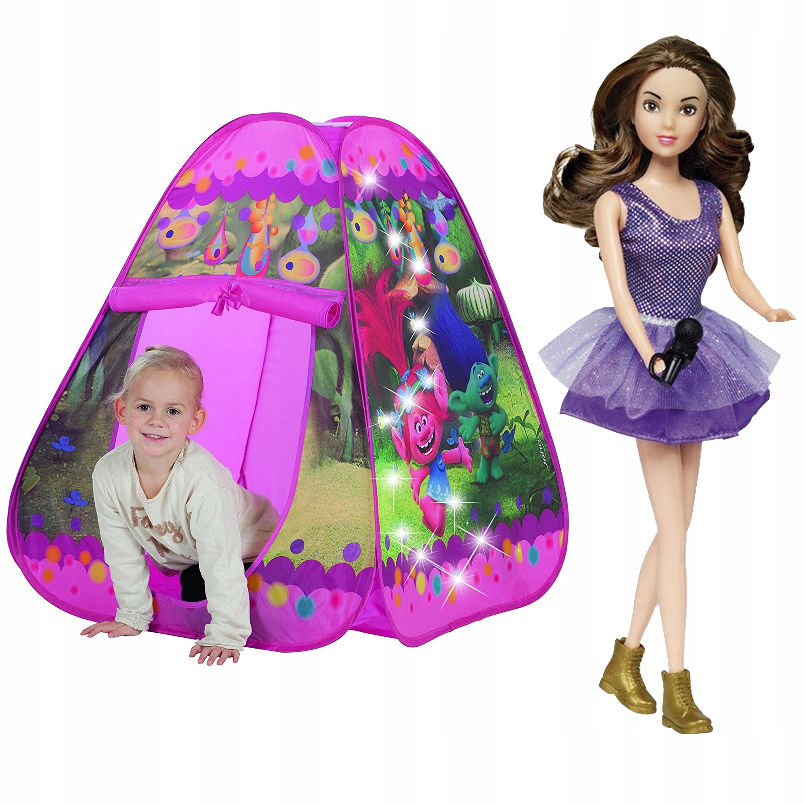 JOHN Namiot Samorozkładający Światła LED + Lalka