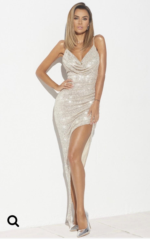 Sukienka złota cekinowa Lou S