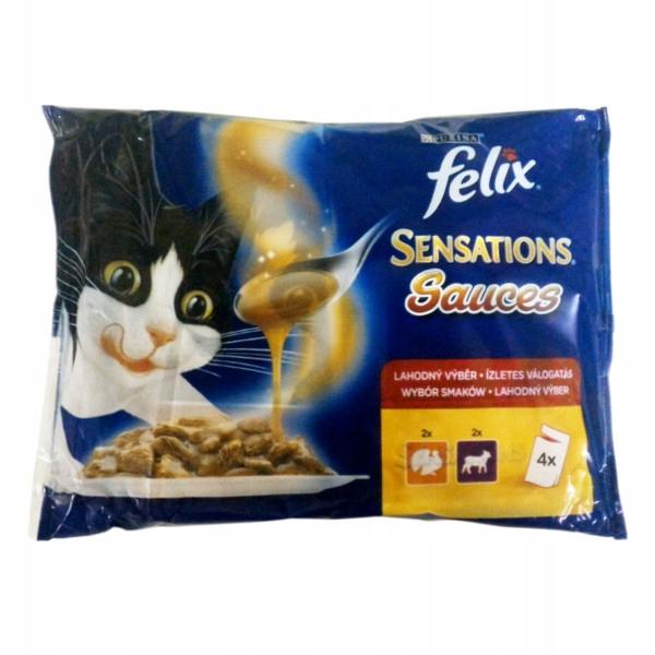 Felix Sensations Sauce saszetka 4x100g indyk jagni