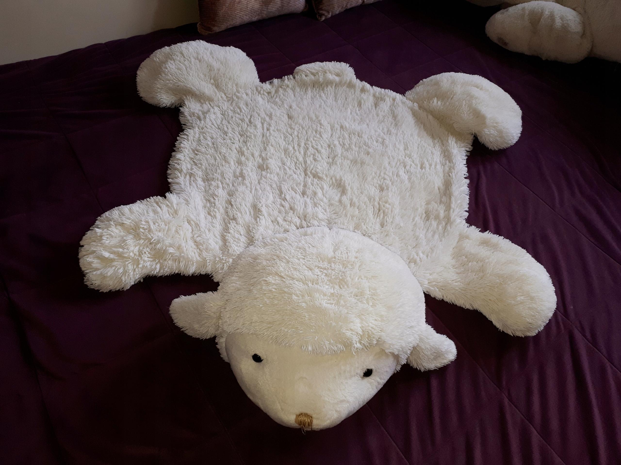 Mata antypoślizgowa, pluszowa owca 105x65 cm
