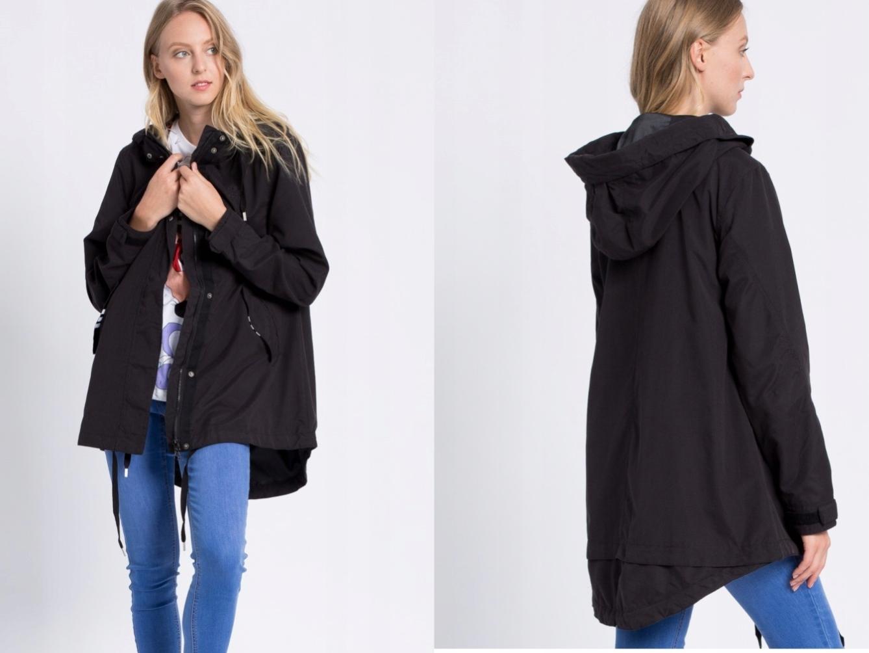 ADIDAS ORIGINALS czarna kurtka oversize 38