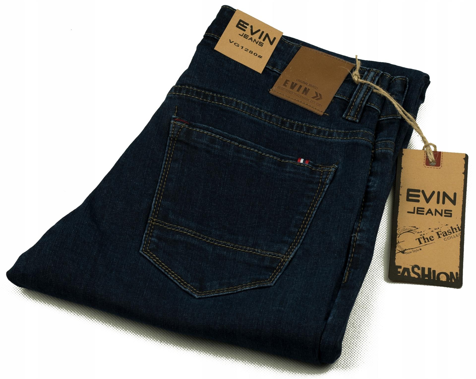 cc9aaeb83 EVIN jeans spodnie granat W30/80 L30/102 - 7714538675 - oficjalne ...