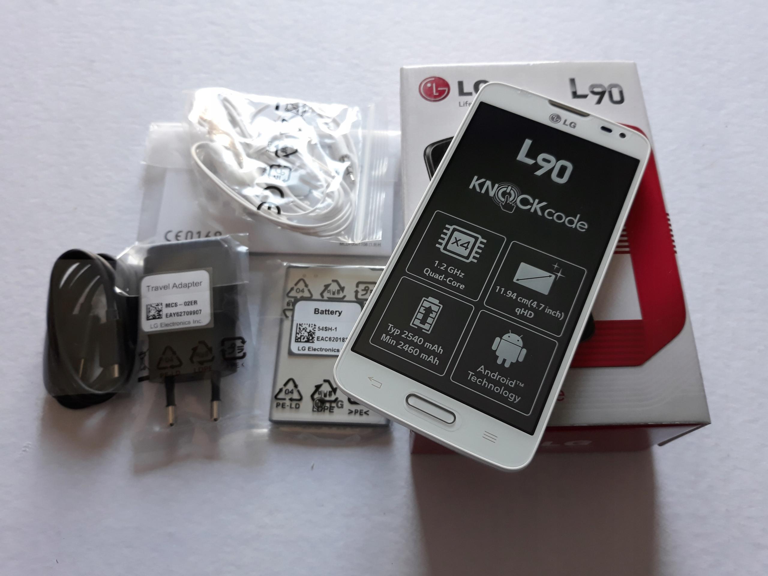 Nowy Polski LG L90 biały kpl gwarancja 12m orygina