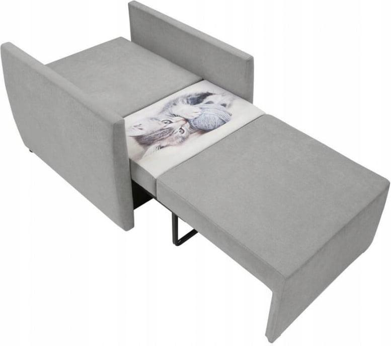 Sofa Fotel Rozkładany Szary Ola Black Red White 6945336903