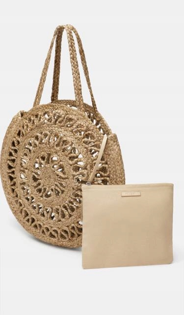 Zara torba shopper koszyk kosz rafia z rafii juta