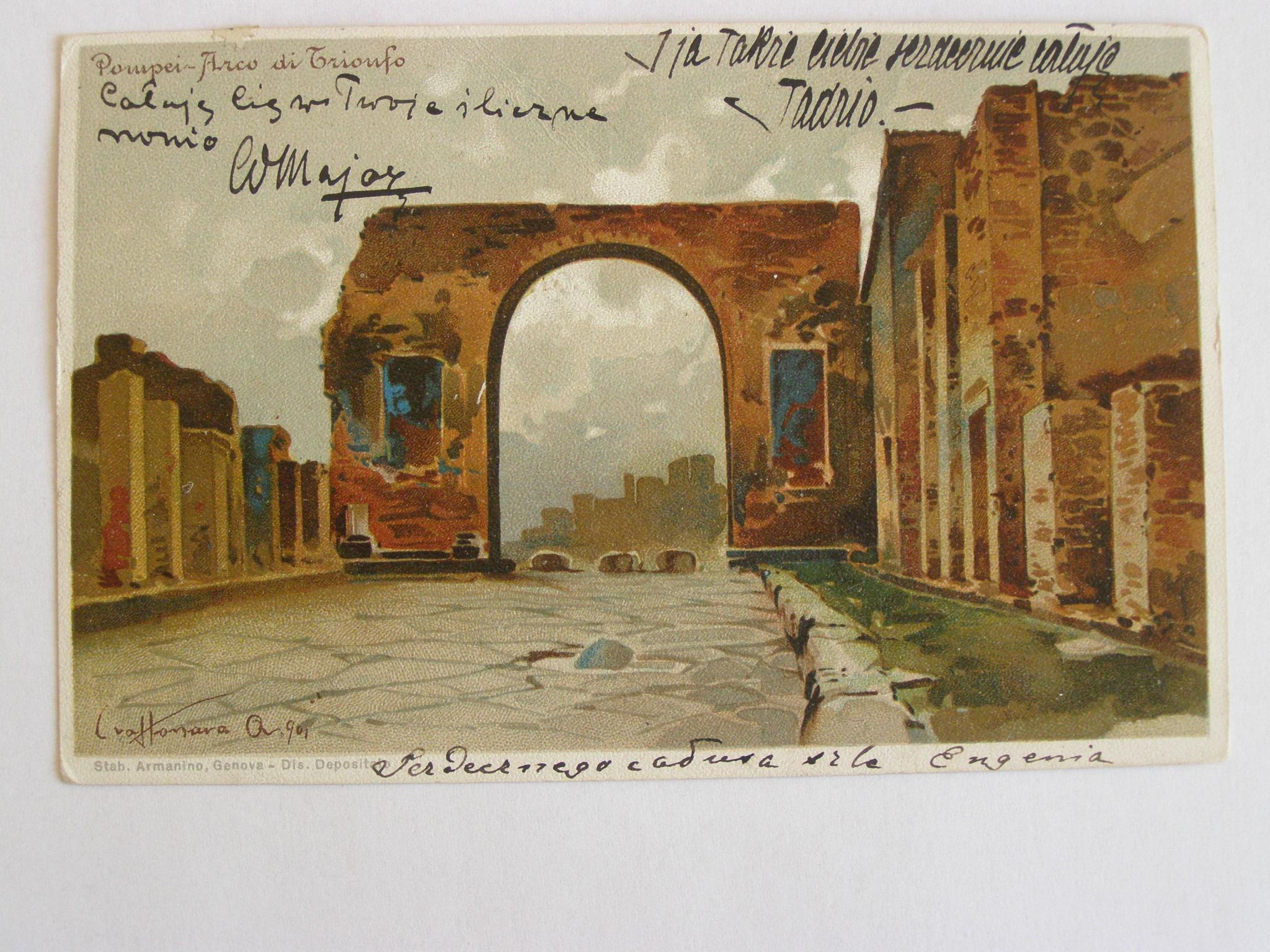 Włochy Pompeje Lwów Sylczyński 1900