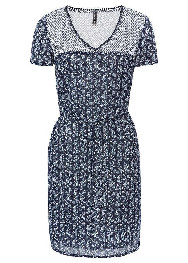 7857fdfdb1 Sukienka z wiązanym paskiem niebieski 40 L 970951 - 7181113812 ...