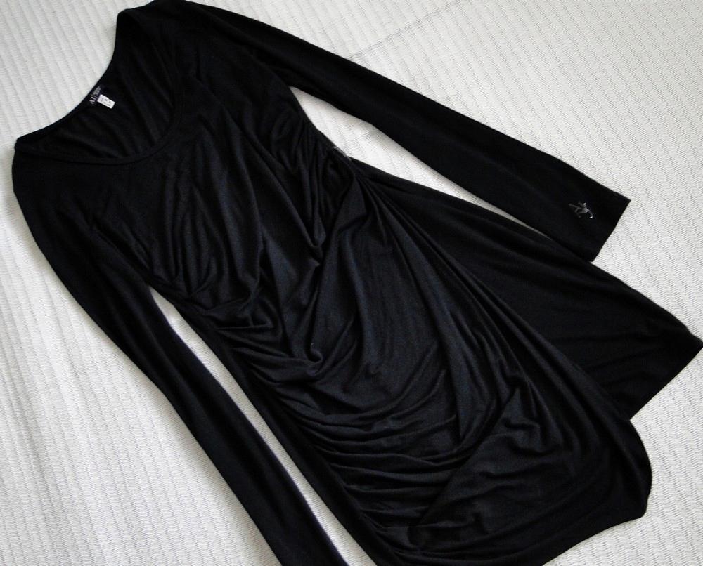 Armani Jeans drapowana sukienka Logo - XL