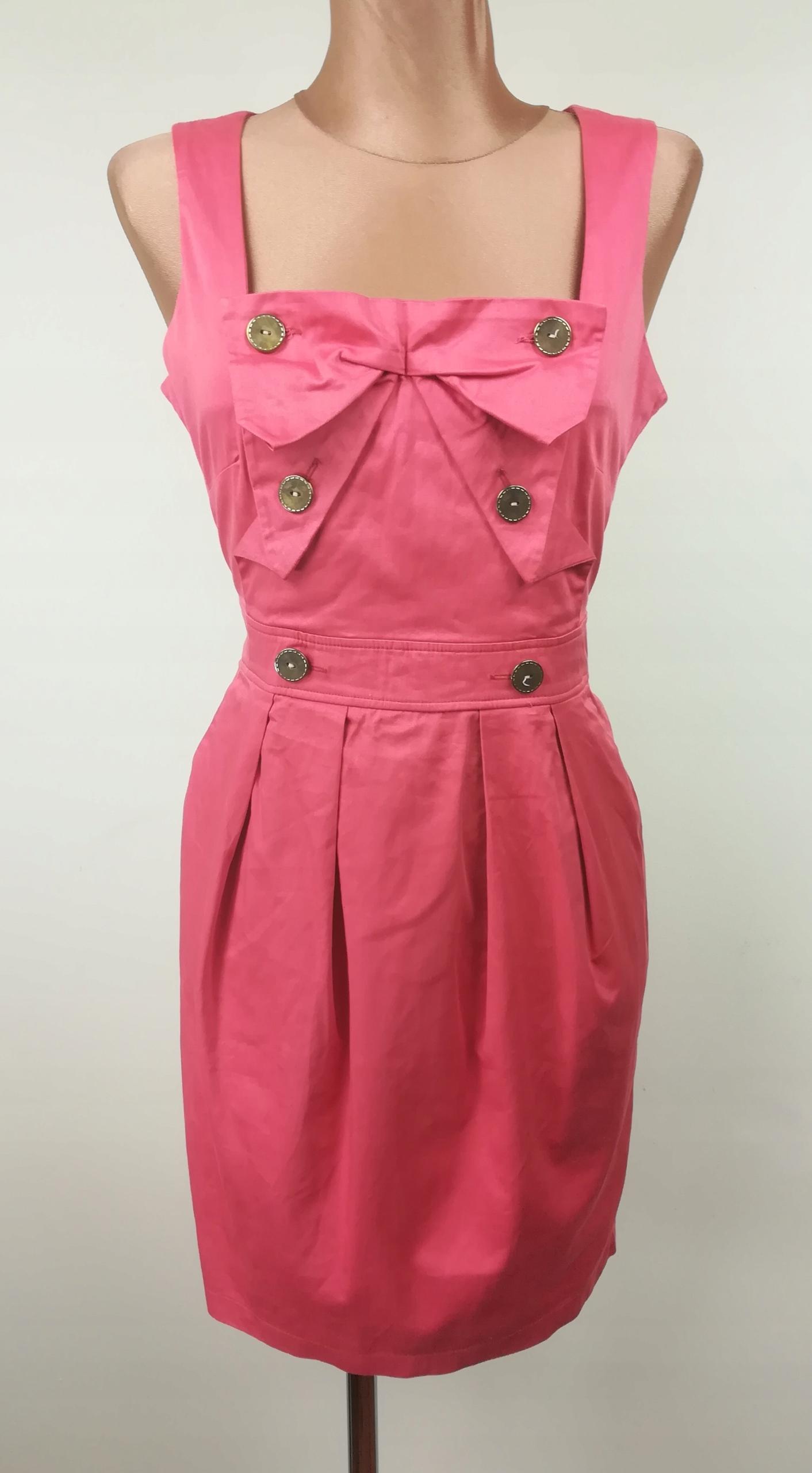 sukienka ATMOSPHERE elegancka klasyczna koral 38
