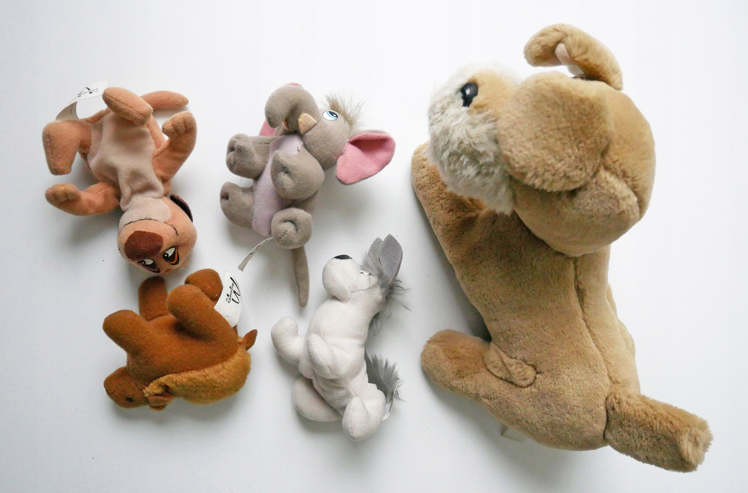 Pluszaki pieski wielbłąd Timon stan idealny+gratis