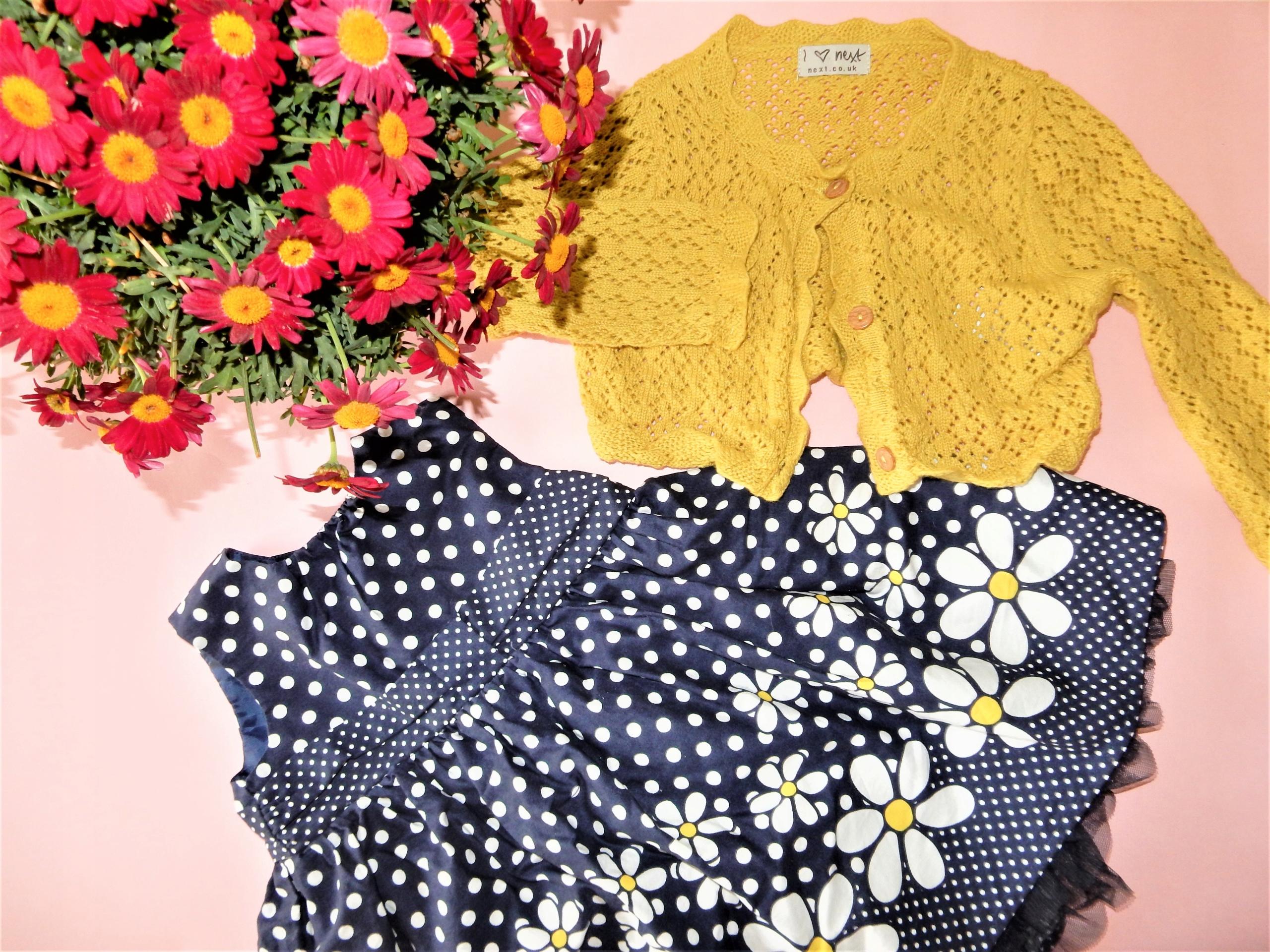 sukienka+ sweterek 74-80