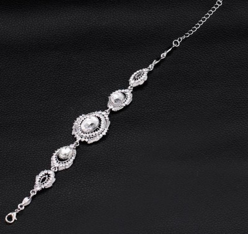 BRANSOLETKA wieczorowa, ślubna, kryształ