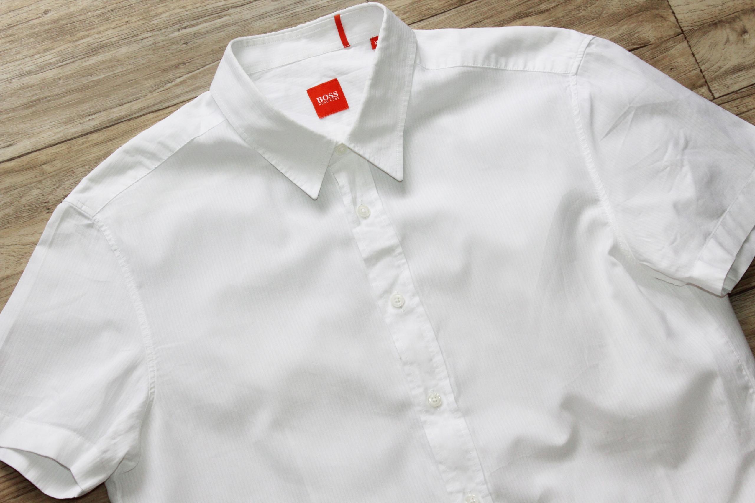 Koszula Hugo Boss Orange biała logo męska bdb L XL