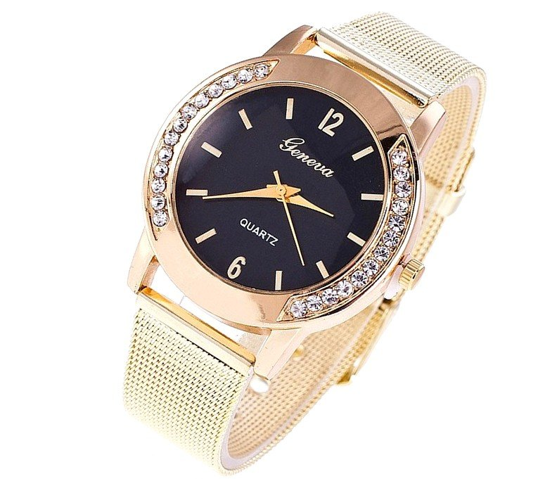 Zegarek Blogerek Damski Złoty Gold GENEVA ZK30