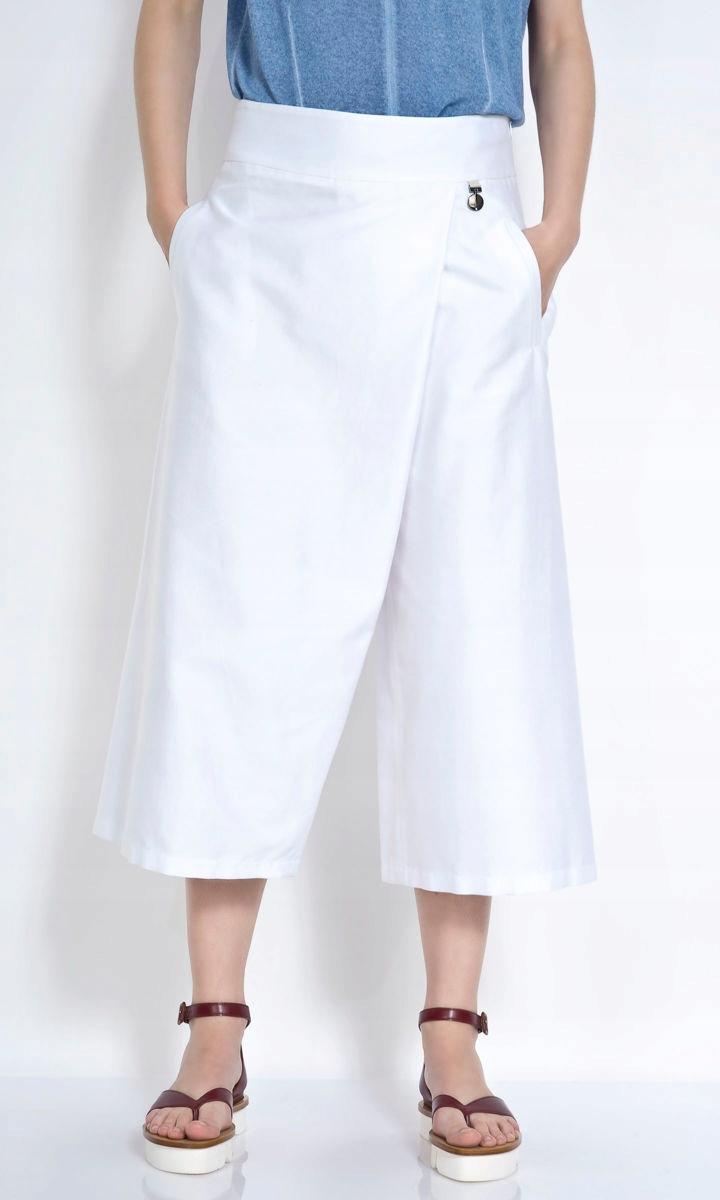 Deni Cler spodnie culottes 38 bawełna nowe