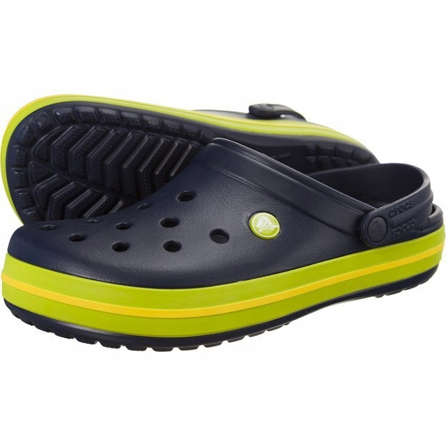 Crocs Crocband Navy Volt Green Lemon M11 45/46