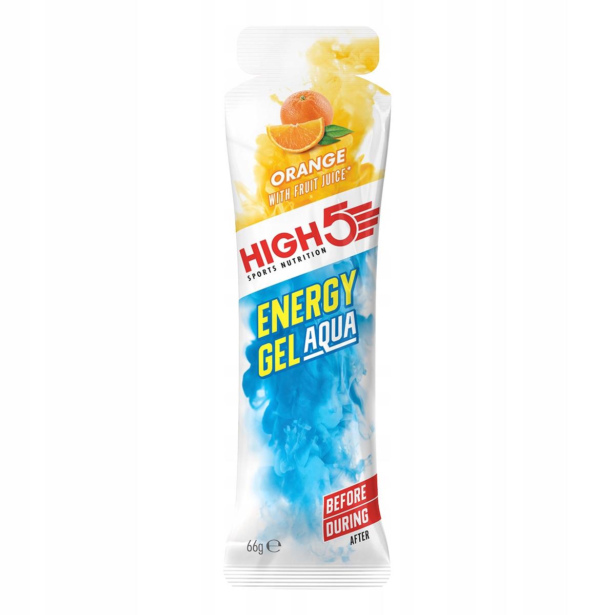 HIGH5 ENERY GEL AQUA POMARAŃCZA ! BEZ POPIJANIA !