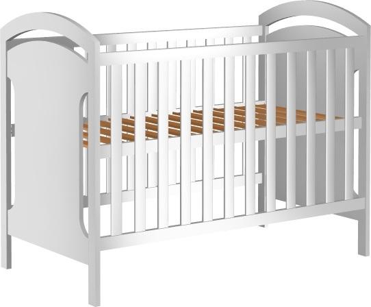 Łóżeczko dziecięce ADAŚ II 120x60cm białe
