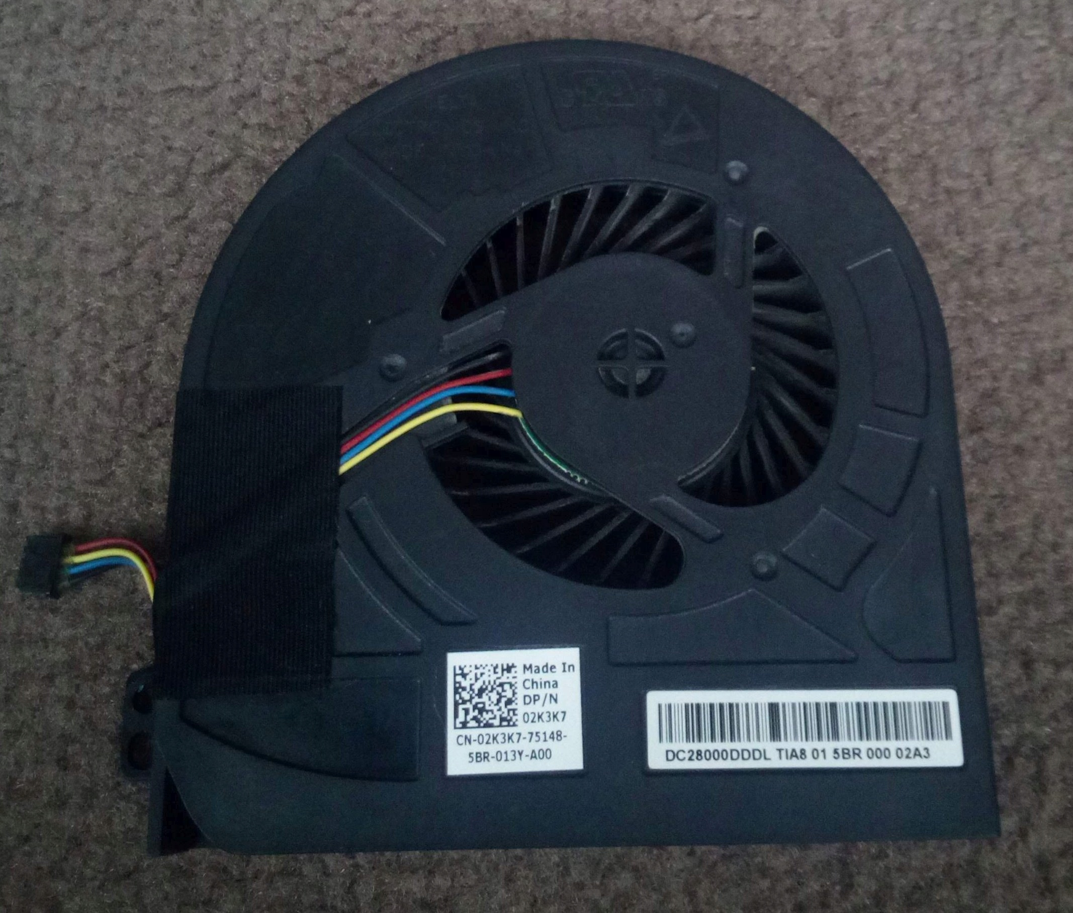Wentylator GPU do Dell M4800 DP/N: 02K3K7 - 7785971920