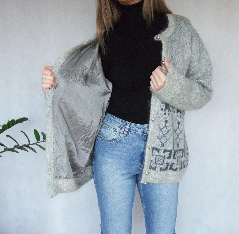 GERWI Strickmoden sweter na podszewce moher wełna