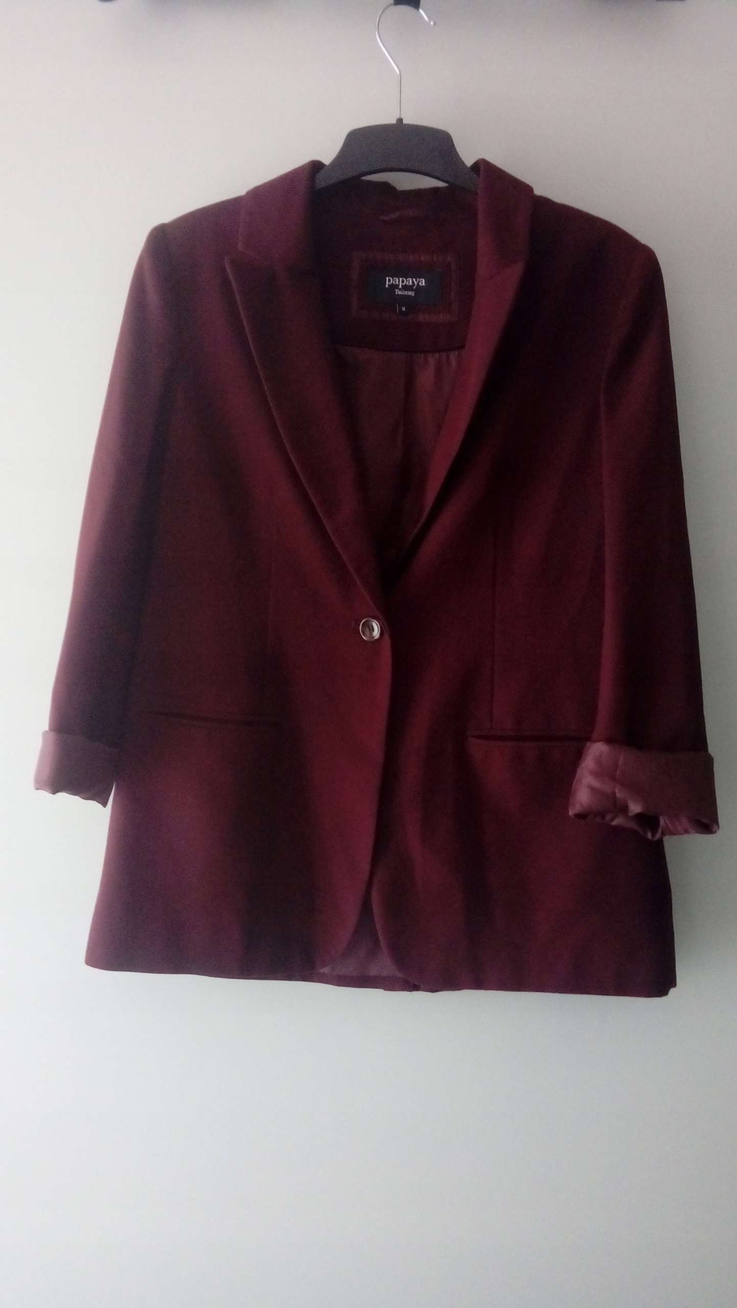 Marynarka Papya XL/XXL bordo burgundowa