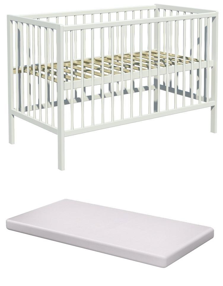 Łóżeczko dziecięce DOMINIK 120x60 +materac pianka