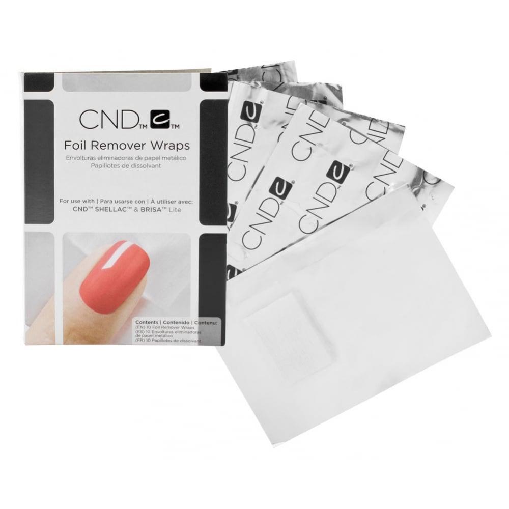 CND Foil Wraps folie z bawełną do usuwania Shellac